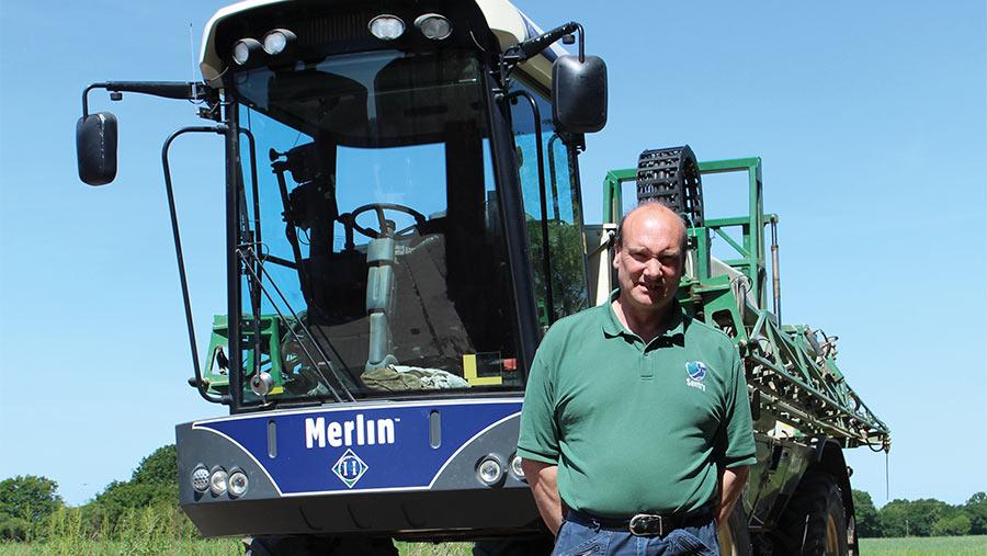 Peter Dennis with his Househam Merlin sprayer