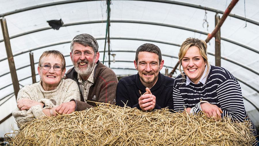 West monitor farmers Bobby and Anne Lennox and Kay and Dougie Wilson