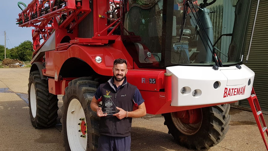 Matt Fuller was crowned as 2020 Farm Sprayer Operator of the Year