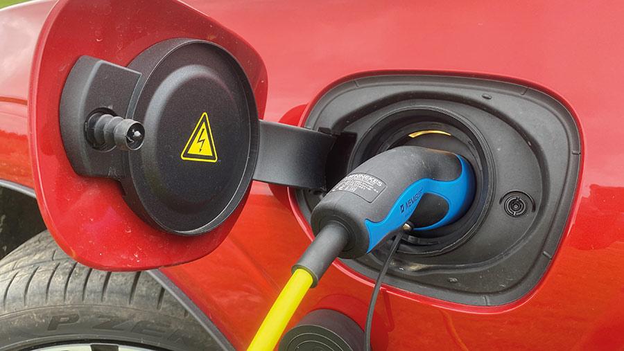 Volvo XC60 T8 hybrid SUV charging