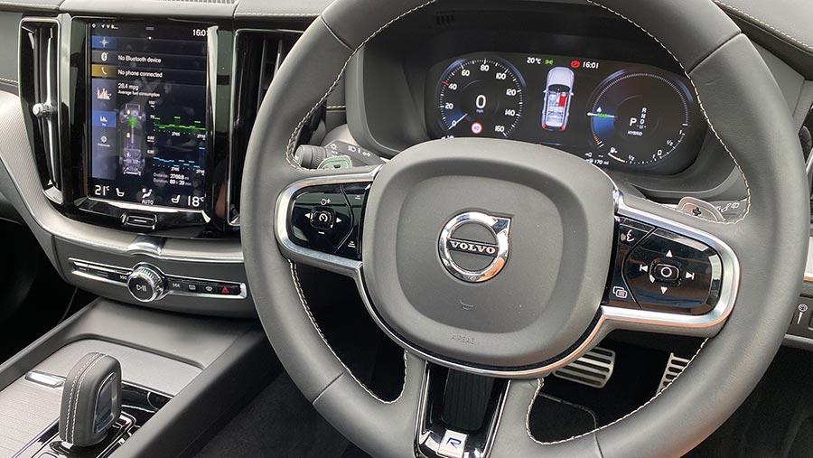 Interior of Volvo XC60 T8 hybrid SUV