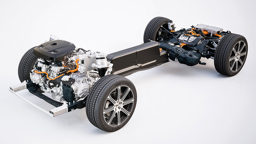 Volvo XC60 T8 hybrid SUV powertrain