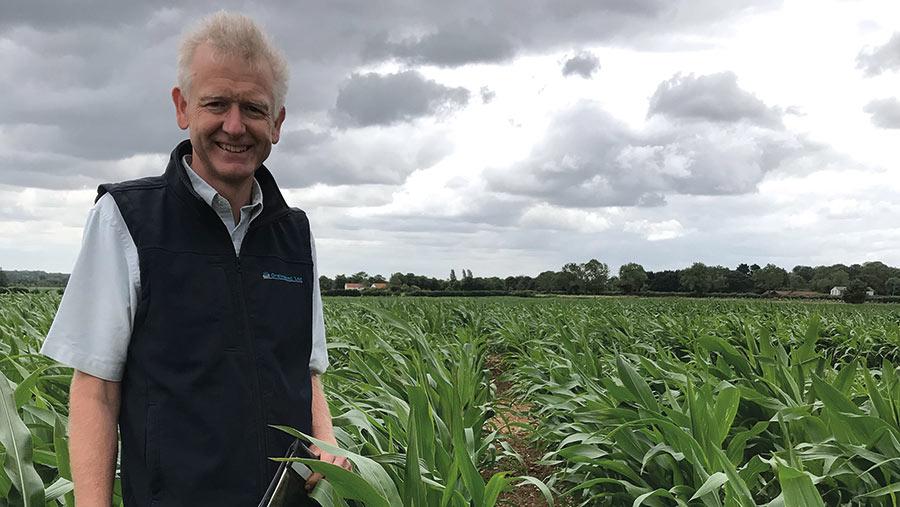 Neil Groom in field