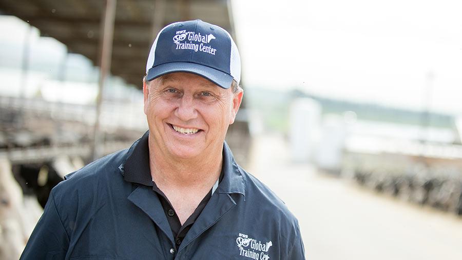 Vet Scott Abbott wearing a baseball cap