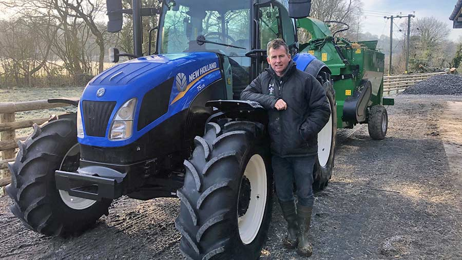 Nigel Owens as the proud owner of his new New Holland tractor © Nigel Owens
