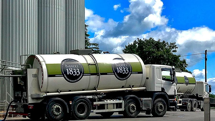 Barbers cheesemakers tanker