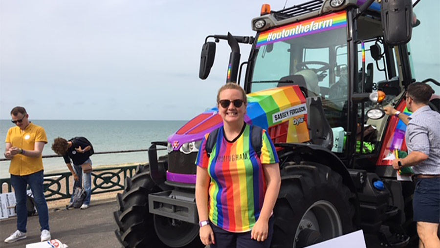 Amie Burke at Brighton Pride