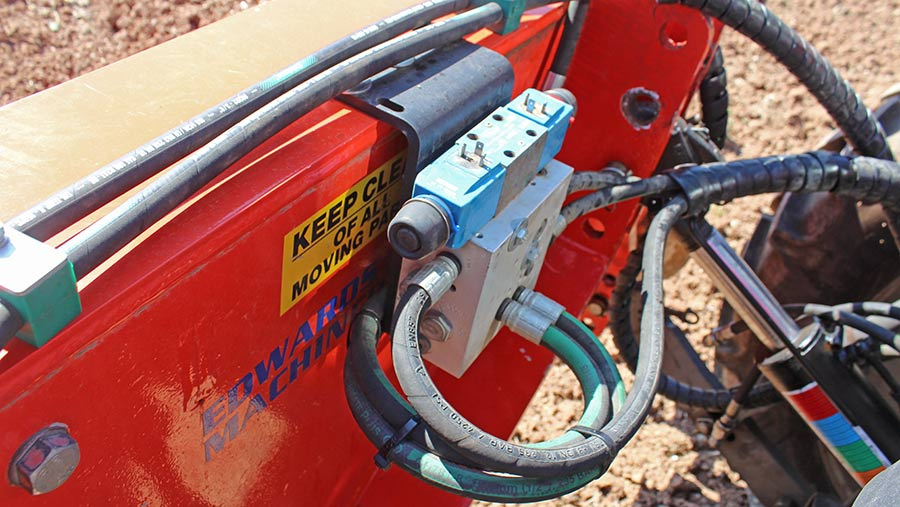 Edwards Farm Machinery side shift hydraulic valve