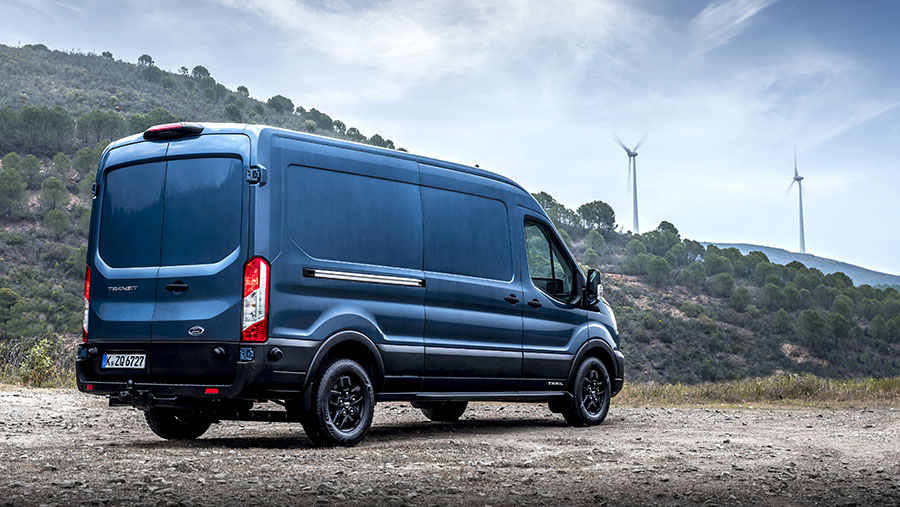 Ford Transit on the road