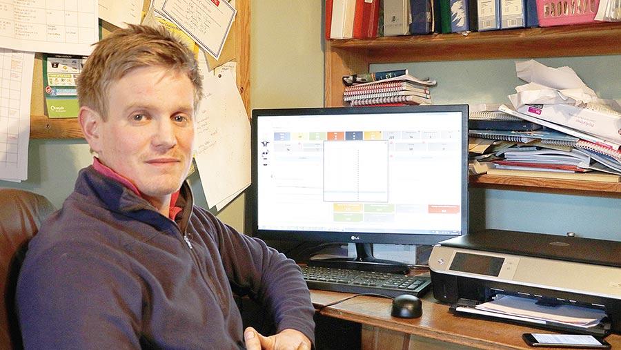 Henry Wilson at desk