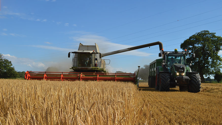 Harvesting at Euston Estate, Suffolk