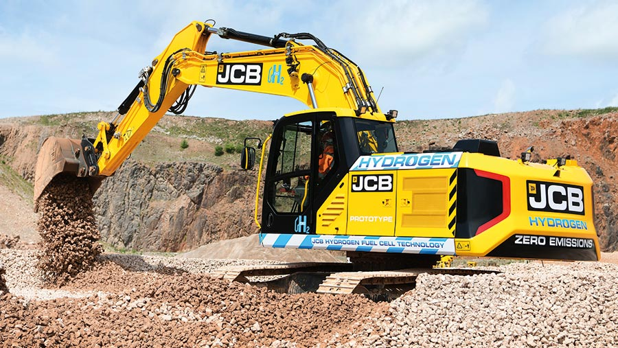JCB 220X hydrogen-powered excavator