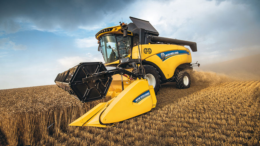 New Holland CH7.70 working in field