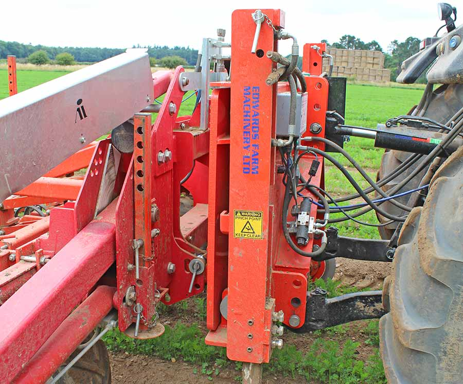 RB Organic side shift frame discs in ground