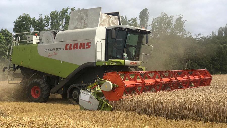 Combine in wheat