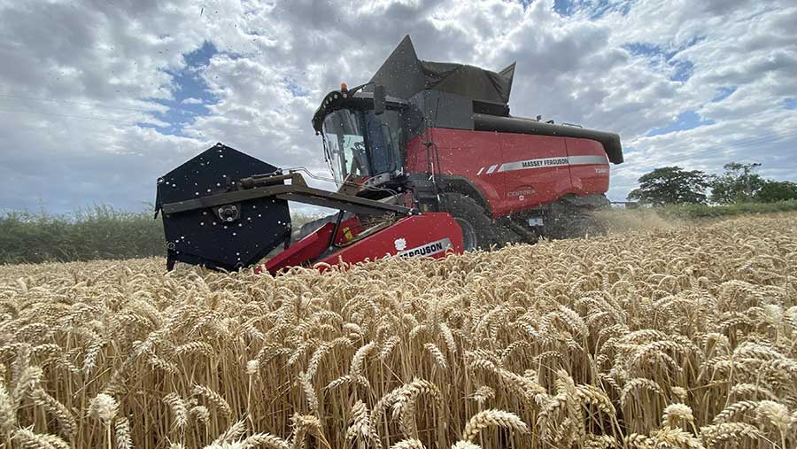 Wheat harvest has kicked off at R&A Needham Farms in north-east Lincolnshire © Alistair Needham
