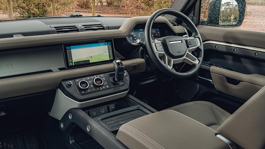 Interior of Land Rover Defender