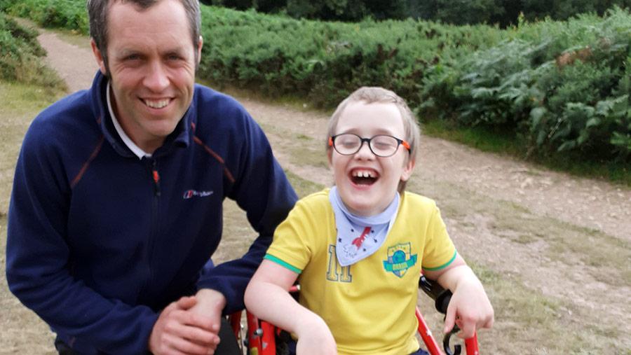 Neil Weston with son Eddie