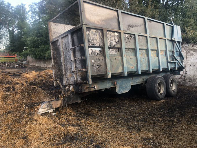 Burnt-out wagon