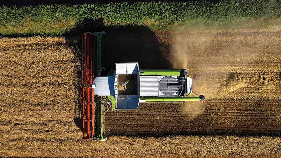 combine from the air