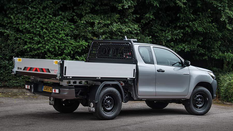 Toyota Hilux tipper pickup