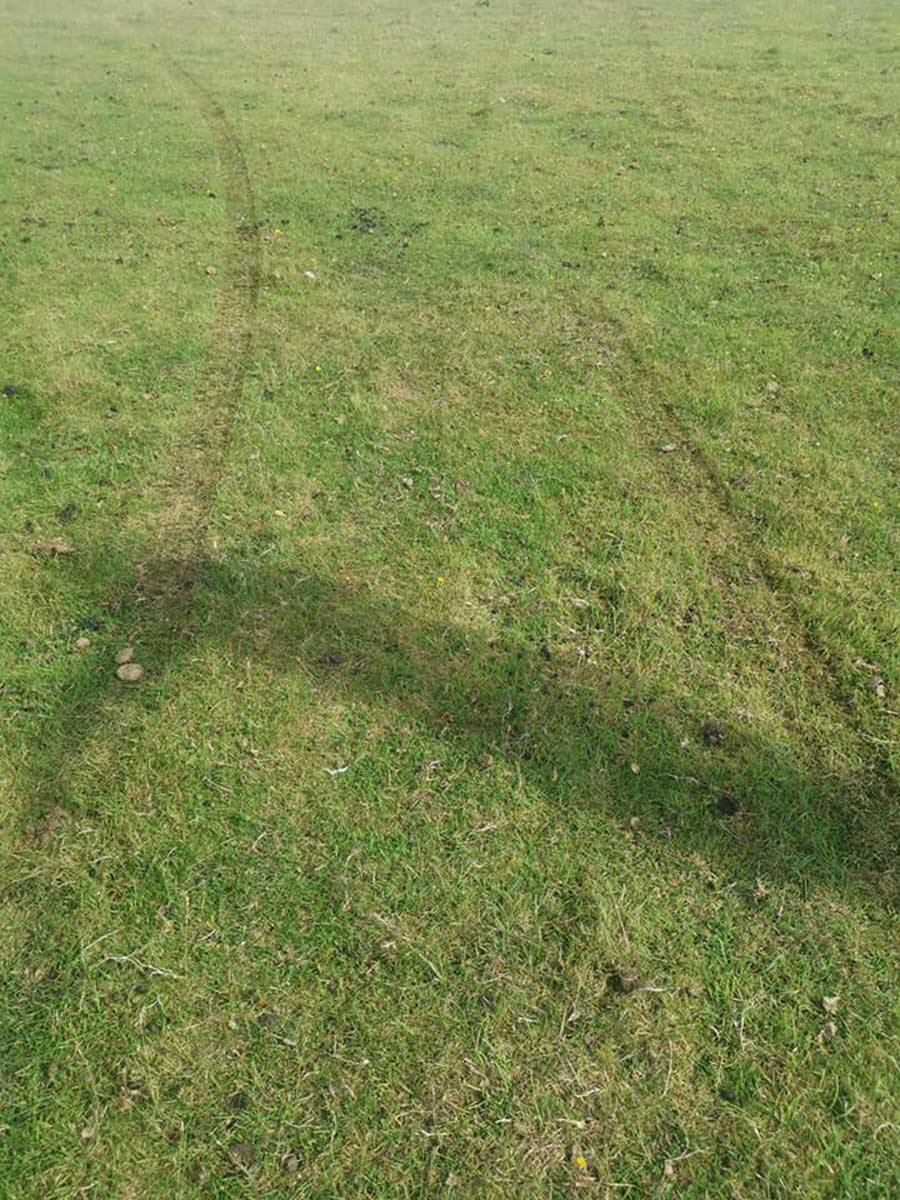 Tyre tracks left in field by hare coursers