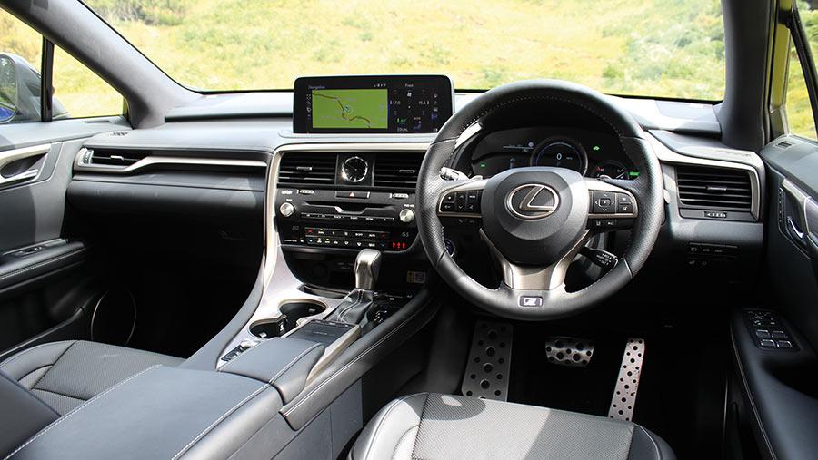 Lexus RX hybrid SUV interior