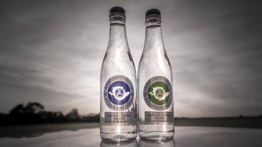 Anglesey Spring Water bottles