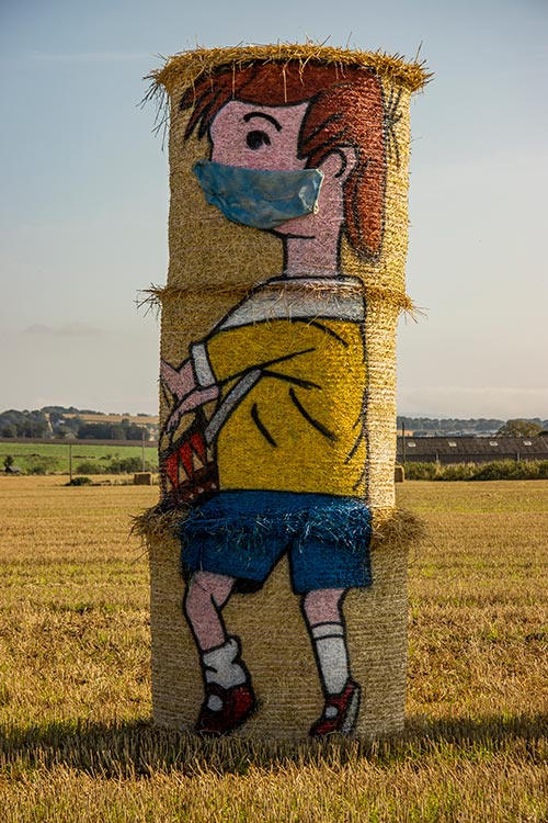 Straw bale of Christopher Robin