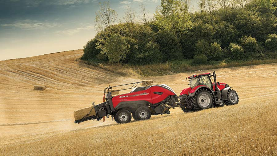 Up to 22% greater bale density is claimed for the 120x90cm Case IH LB 436 HD baler over the previous range topper © Case IH