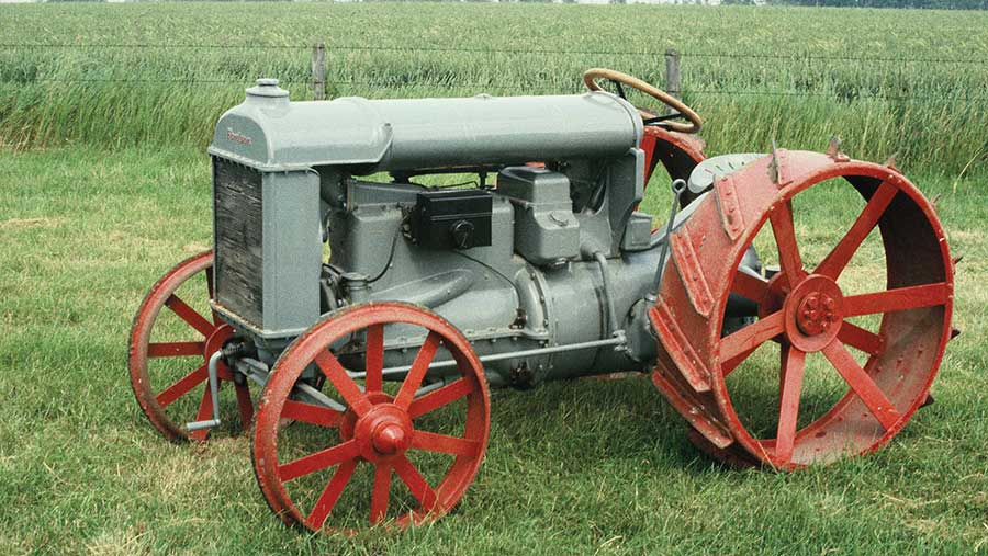 Modern picture of a restored Fordson tractor