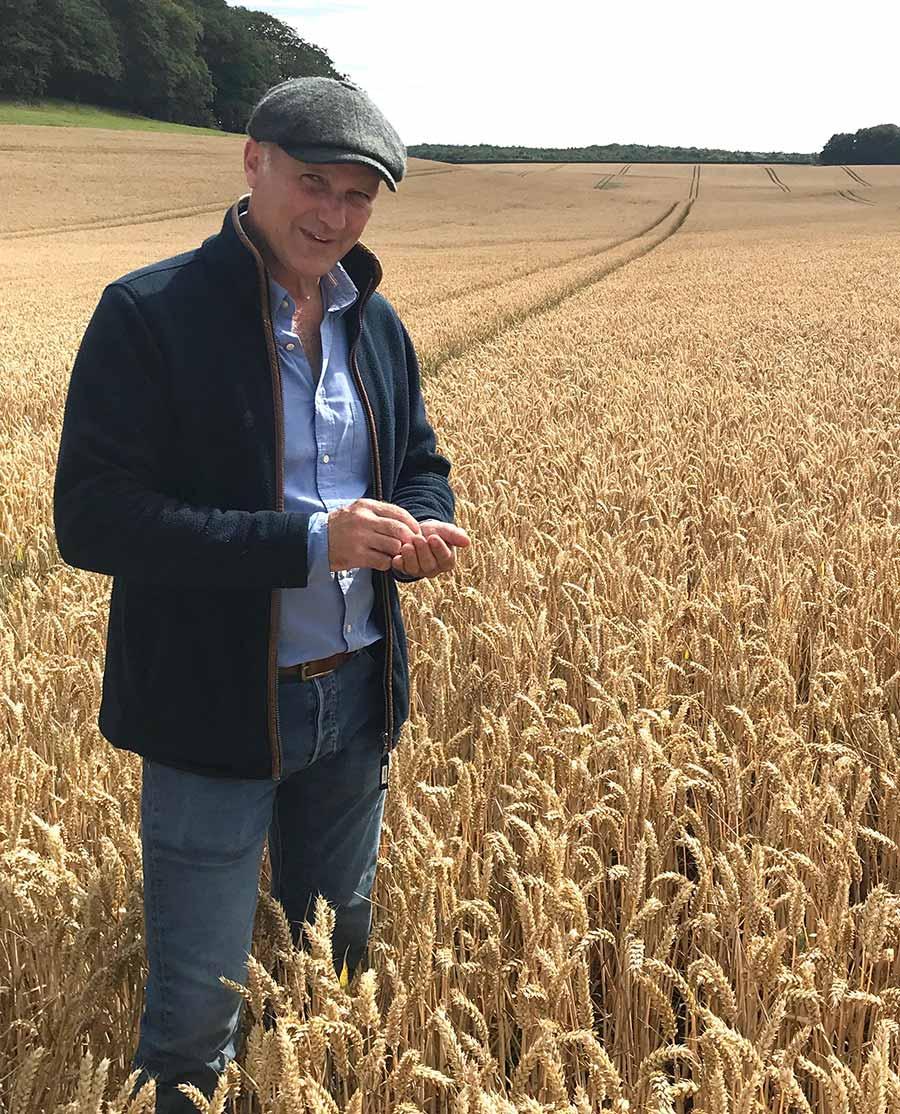 Richard Bayston in his field of RGT Saki