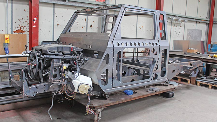 Ibex single-cab frame with BMW engine