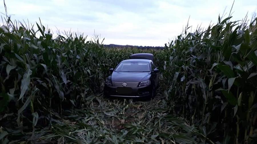 The suspect's car