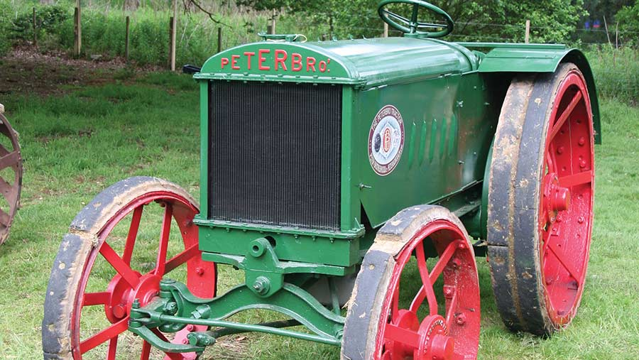 Modern picture of a restored Peterbro tractor