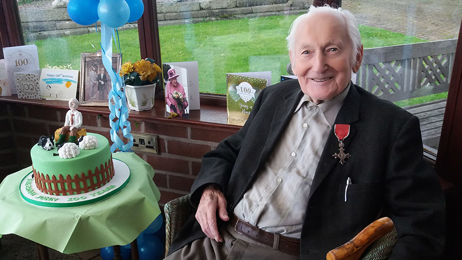 John Wrench on his 100th birthday