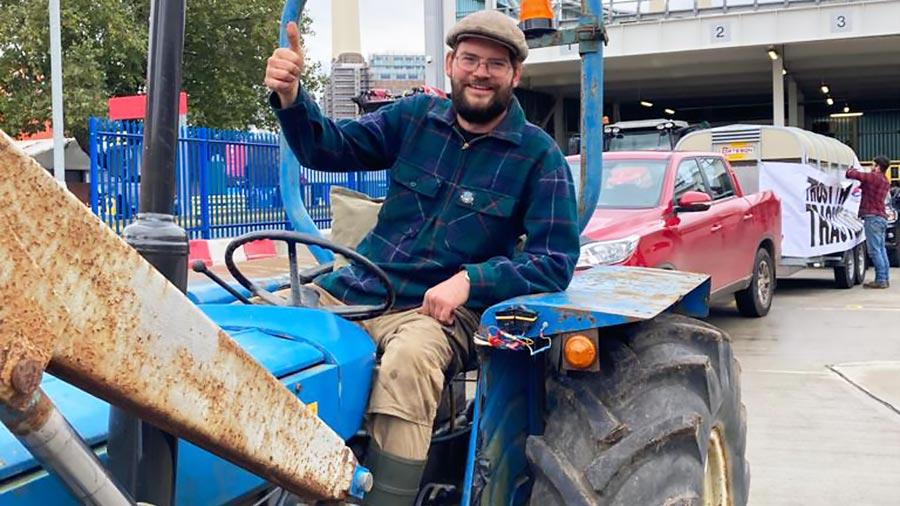 Farmer Edwin Brooks at Save British Farming protest