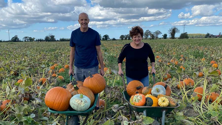 Sally and Anthony Pooley of Undley Pumpkin Patch © Loud Ladybird PR