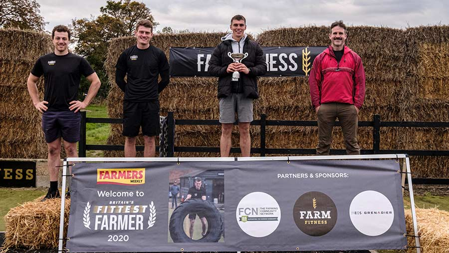 Winner of Britain's Fittest Farmer 2020 James Arney © Colin Miller/MAG