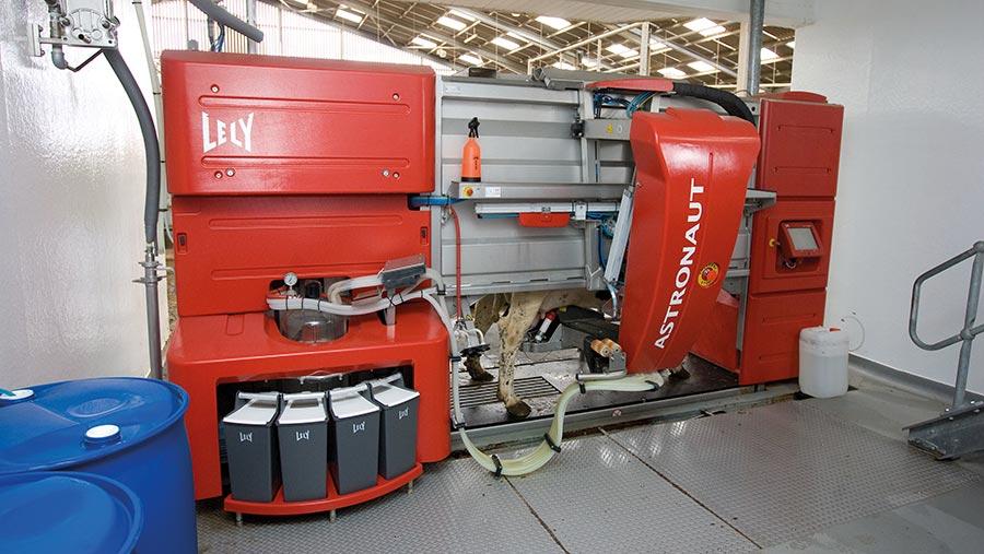 robotic milking machine