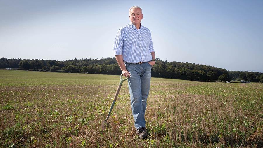 Nick Padwick in field