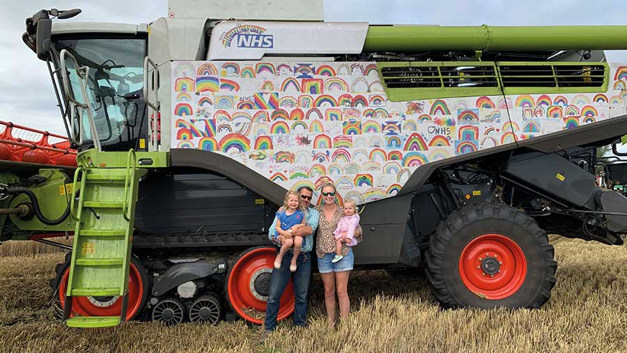 Combine decorated with rainbow pictures