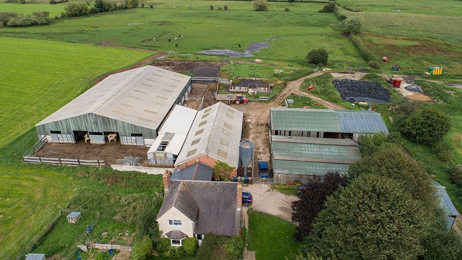 Aerial view of Eaton Brook Farm