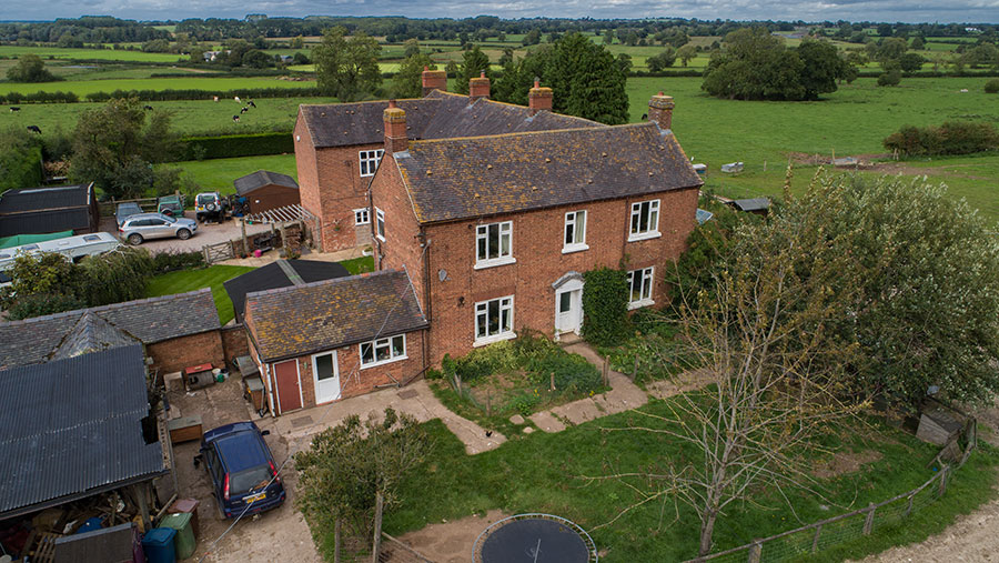 Aerial view of New Buildings Farm