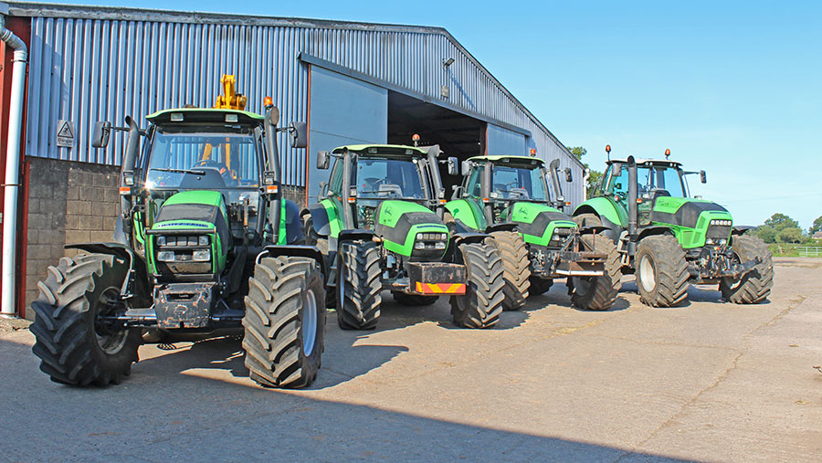 The Agrotron fleet © James Andrews