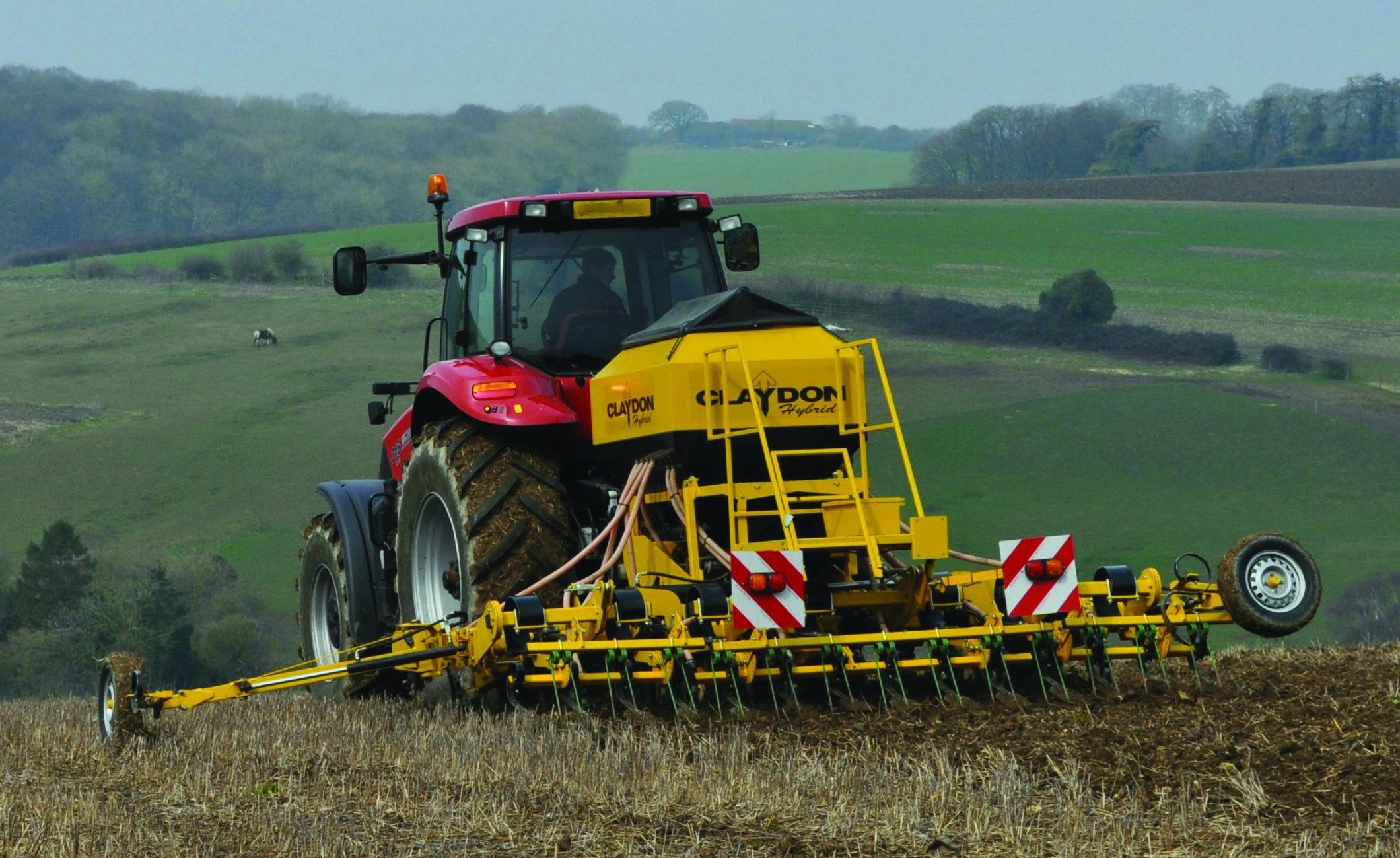Claydon 3m Hybrid with Case IH tractor
