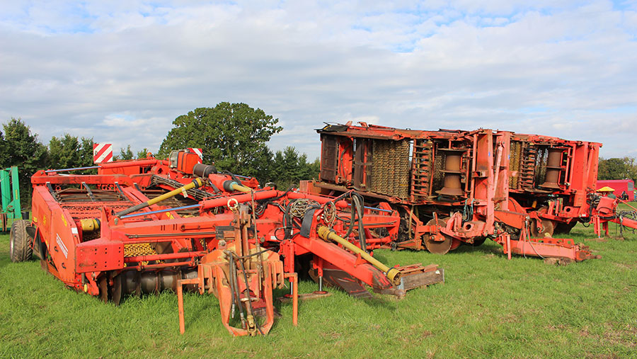 Grimme triple-bed destoners