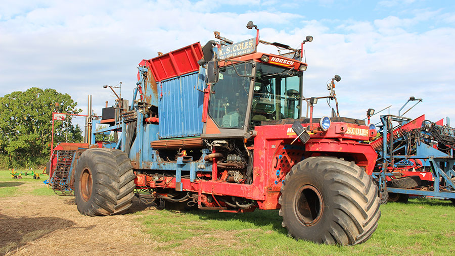 Horsch self-propelled swede harvester
