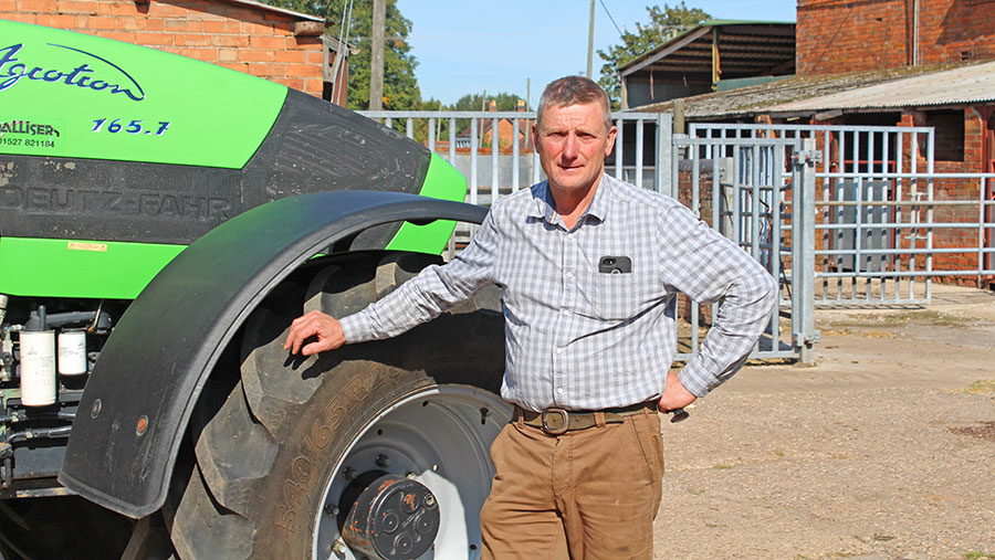 Phil Gibbs with tractor