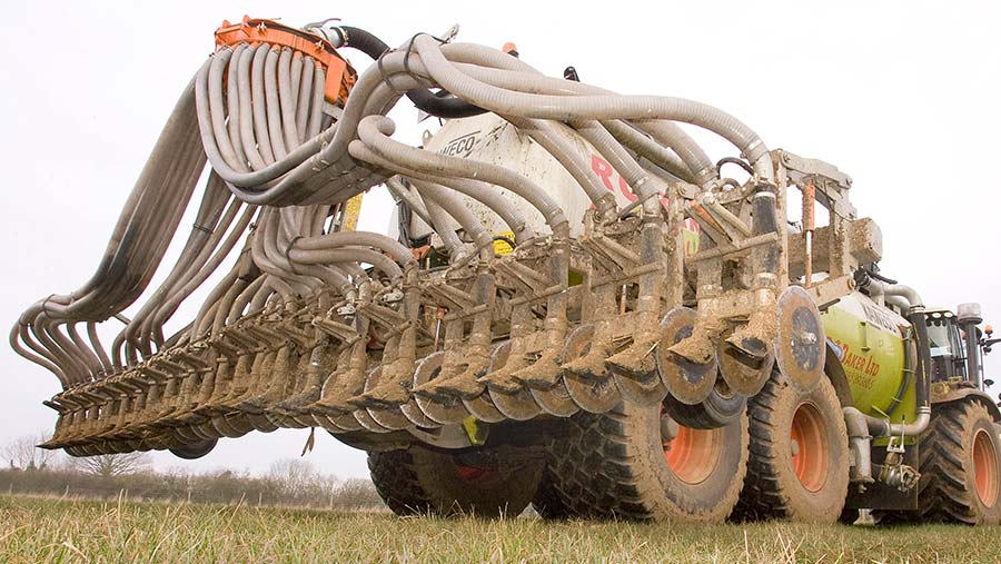 This tranche of the grant scheme prioritises low-emissions slurry equipment © Jodie Deakin